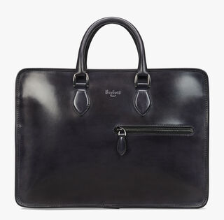 Cartable Un Jour En Cuir, DEEP BLACK, hi-res