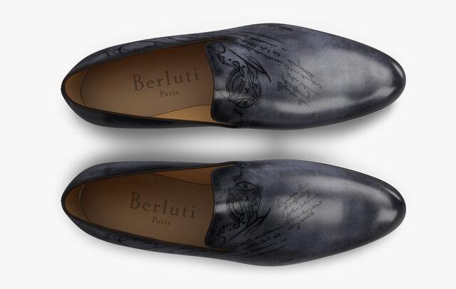 Cursive Galet Scritto Calf Leather Loafer, TOBACCO BIS, hi-res