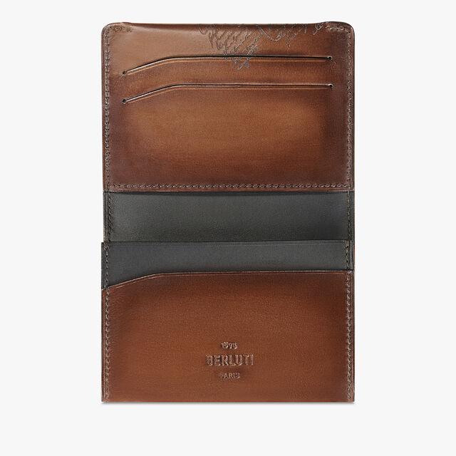 Vision Scritto Leather Card Holder, MOGANO, hi-res