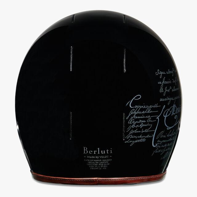 Leather Helmet, BRUN, hi-res