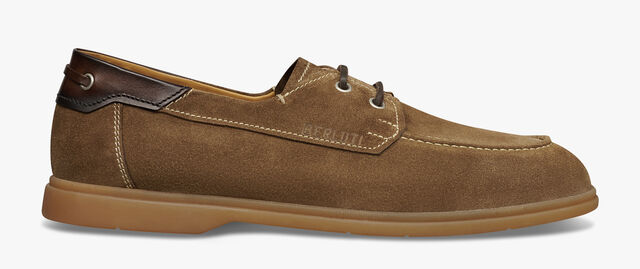 Latitude Leather Boat Shoe, TAUPE, hi-res