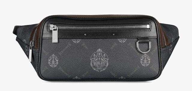 Balade Canvas And Leather Messenger Bag, BLACK + TDM INTENSO, hi-res
