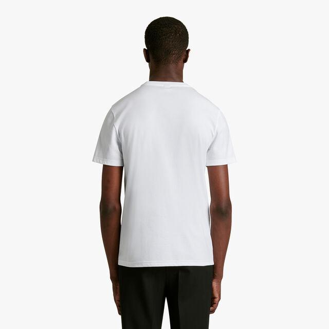T-Shirt Avec Logo Imprimé et Brodé, BLANC OPTIQUE, hi-res