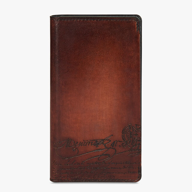 Scritto Leather IPhone Xs Folio Cover, MOGANO, hi-res