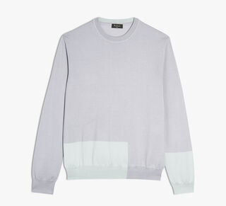 Silk and Cashmere Crewneck Sweater, SMOKE GREY, hi-res