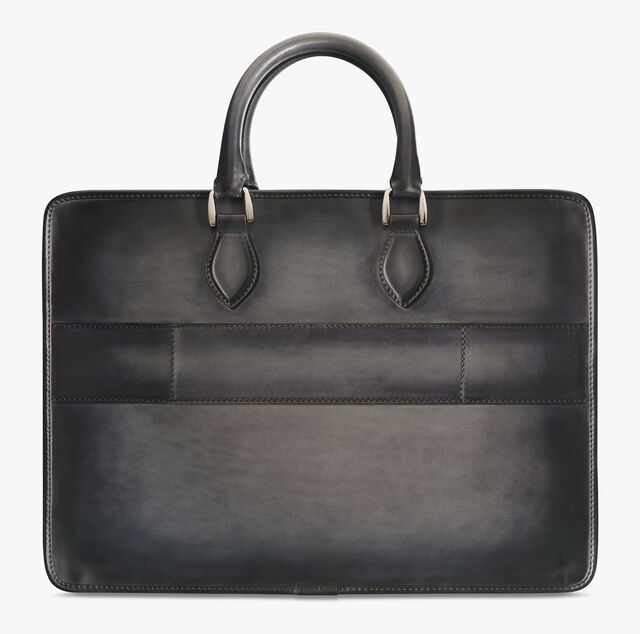 2 Jours Leather Patina Illusion Scales Briefcase, EMERALD, hi-res