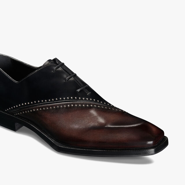 Alessandro Edge Leather Oxford, DEEP TDM & BLACK, hi-res