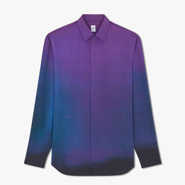 Lev Khesin Silk Shirt, LIGHT TO DARK PURPLE, hi-res