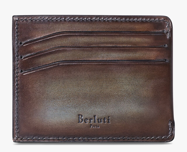 Bambou Leather Card Holder, ICE BROWN, hi-res