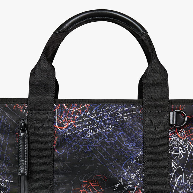 Duo Nylon & Calf Leather Tote Bag, NEW WAVE, hi-res