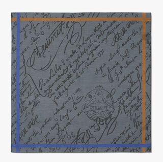 Scritto Pocket Square, DARK GREY, hi-res