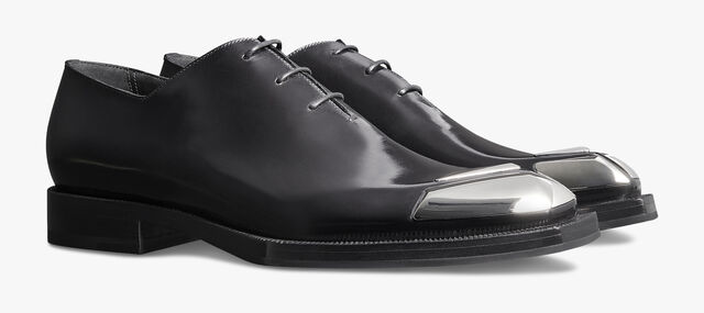 Alessandro Edge Calf Leather Oxford With Metallic Details, JET BLACK, hi-res