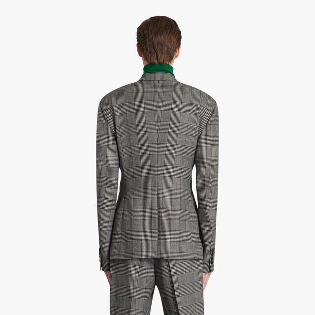 Mouline Check Regular Lined Jacket, BLACK CHECK, hi-res
