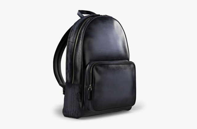 Time-Off Leather Backpack, NERO GRIGIO, hi-res