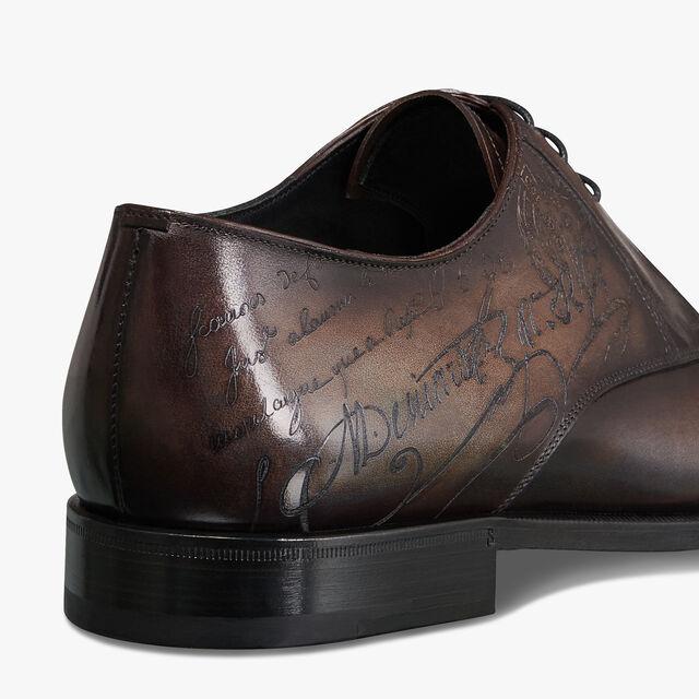 Scars Demesure Scritto Calf Leather Derby, ICE BROWN, hi-res