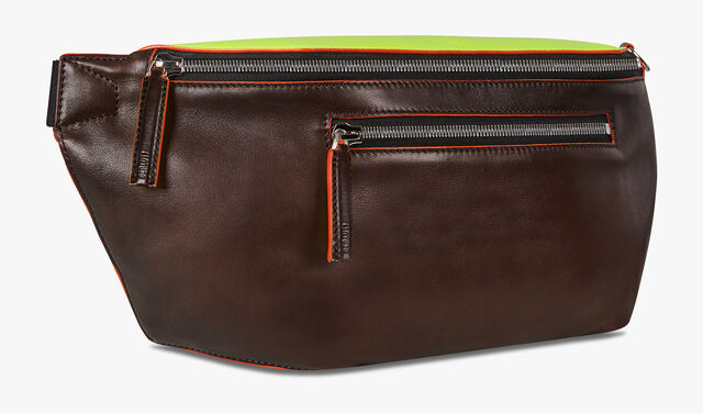 Complice Large Leather Belt Bag, BRUN+YELLOW, hi-res