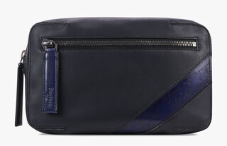 Pilote Leather Shoulder Bag, NAVY BLU, hi-res