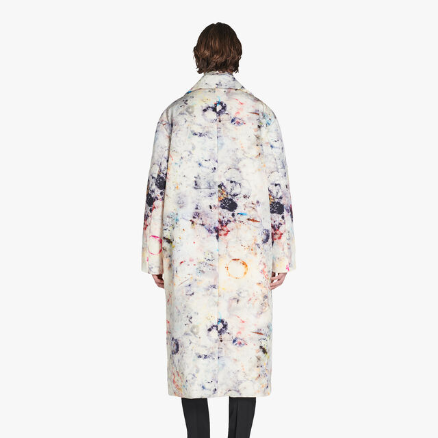 Puffy Printed Marble Coat, MARBLE, hi-res