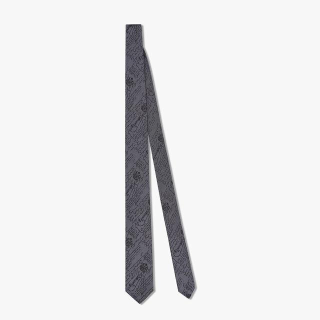 6 cm Scritto Silk Tie, LEAD, hi-res