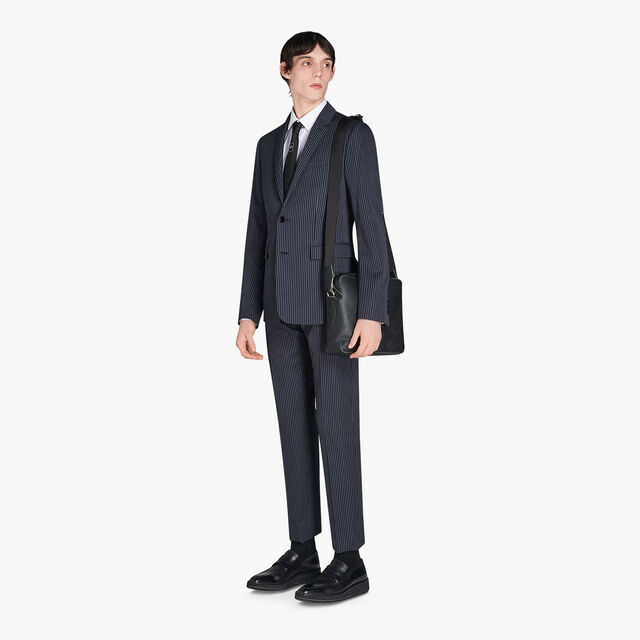 Andy Slim-Fit Long Sleeves Cotton-Poplin Shirt, BLANC OPTIQUE, hi-res