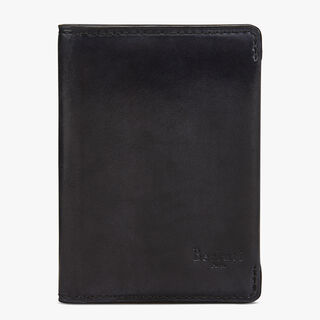 Ideal Calf Leather Card Holder, DEEP BLACK, hi-res