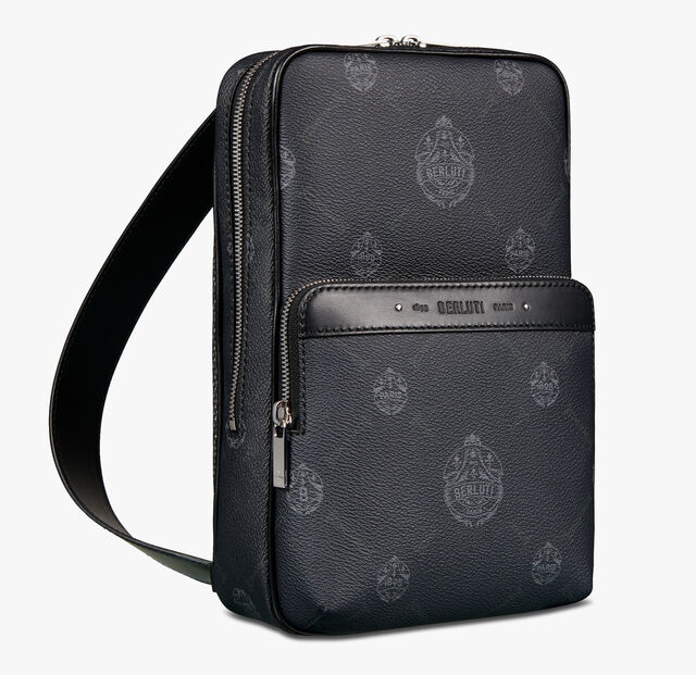 Discovery Canvas And Leather Crossbody bag, BLACK + TDM INTENSO, hi-res