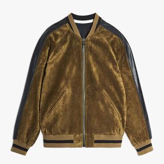 Calfskin Suede Jacket, VISON, hi-res
