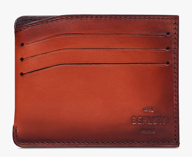 Bambou Leather Card Holder, TERRACOTTA, hi-res