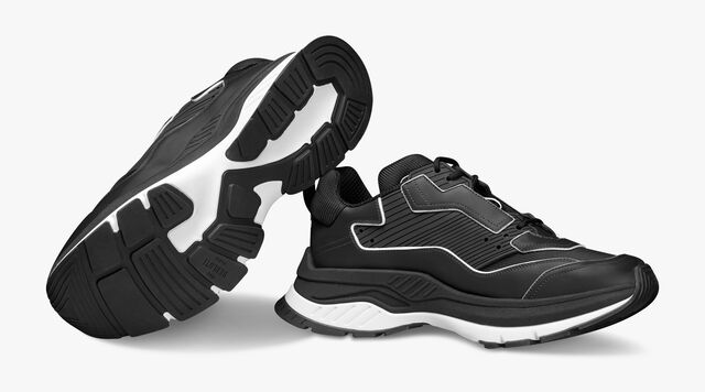 Sneaker Gravity En Cuir De Veau, BLACK, hi-res