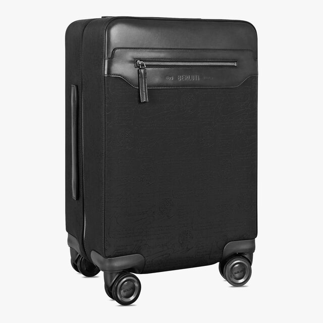 Formula 1004 Scritto Nylon Rolling Suitcase, NERO, hi-res