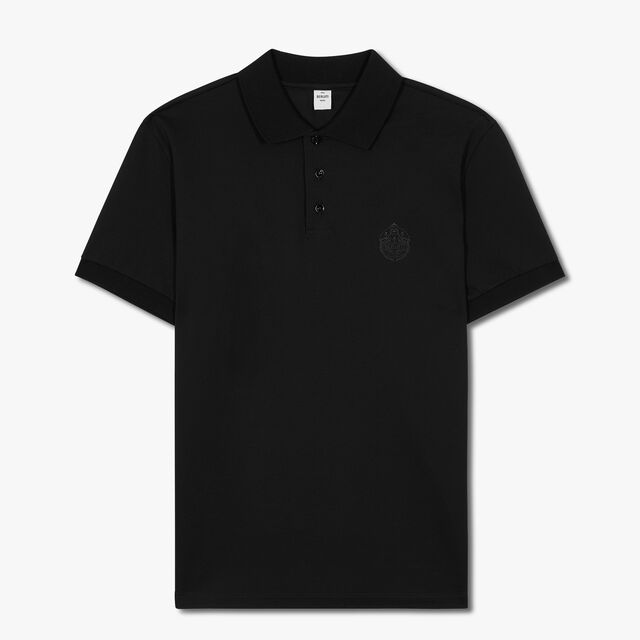 Polo Shirt With Embroidered Crest