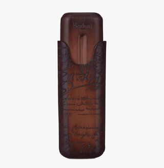 Scritto Leather Two-Cigar Case
