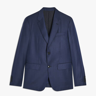 Half-Lined Wool Jacket, BLUE MARINE, hi-res