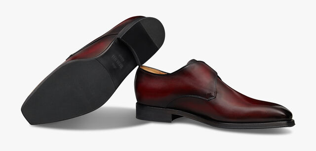 Classic Infini Leather Monk Shoe , DEEP RED, hi-res