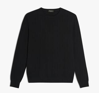 Cashmere Crewneck Sweater, NOIR, hi-res