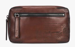 Pilote Leather Shoulder Bag, MOGANO, hi-res