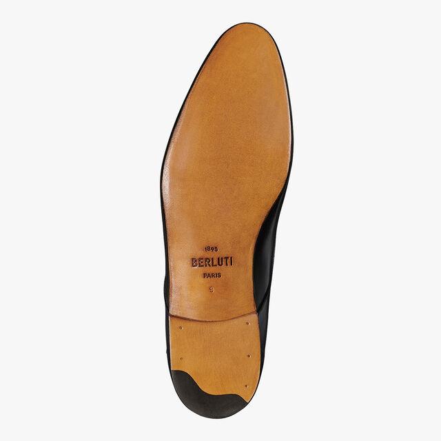 Cursive Galet Leather Derby, NERO GRIGIO, hi-res