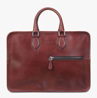 Deux Jours Leather Briefcase, VERMILLON TRI, hi-res