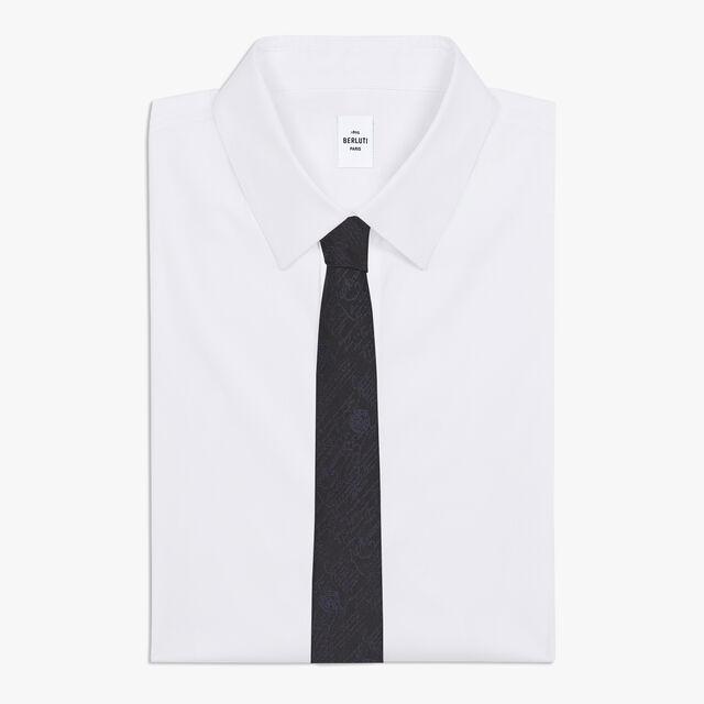 6 cm Scritto Silk Tie, NOIR/NAVY, hi-res