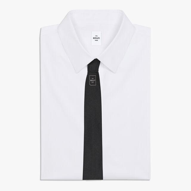6 cm Evening Silk Tie, NOIR, hi-res