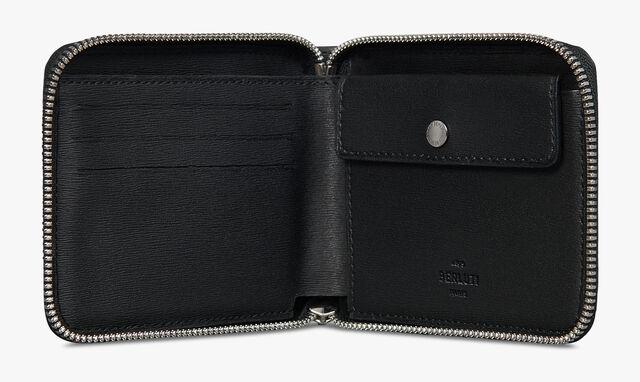 Itauba Square Scritto Leather Zipped Wallet, UTOPIA BLUE, hi-res