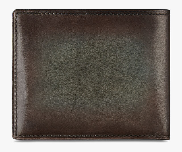 Makore Slim Scritto Leather Wallet, ICE BROWN, hi-res