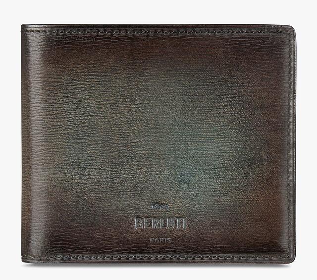 Makore Embossed Leather Wallet, ICE BROWN, hi-res