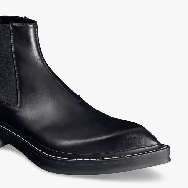 Hoxton Leather Boot, JET BLACK, hi-res