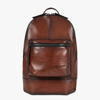Volume Small Leather Backpack, MOGANO, hi-res