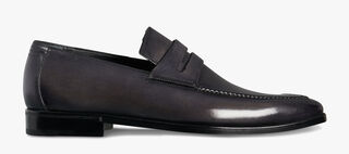 Asymetrique Démesure Calf Leather Loafer, GRAPHITE, hi-res
