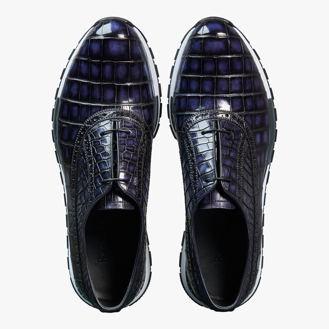Fast Track Torino Alligator Leather Sneaker, METEORITE, hi-res