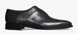 Scars Démesure Engraved Calf Leather Oxford, DEEP BLACK, hi-res