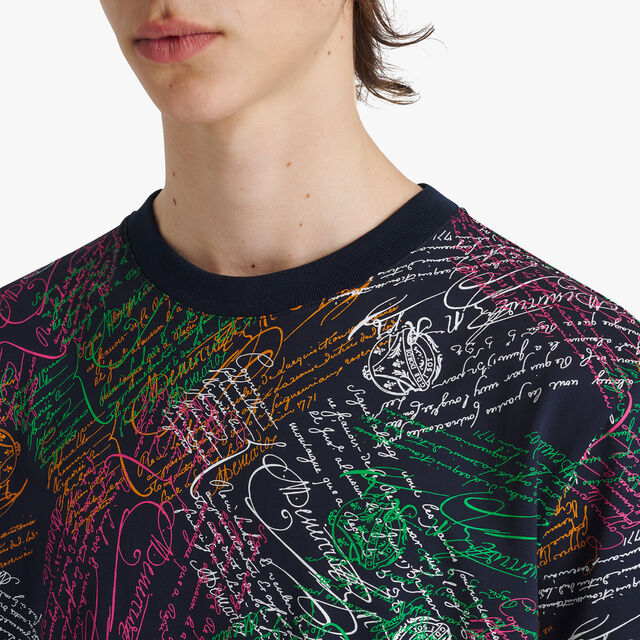 All-Over Printed T-Shirt, SCRITTO COSMIC BLUE, hi-res