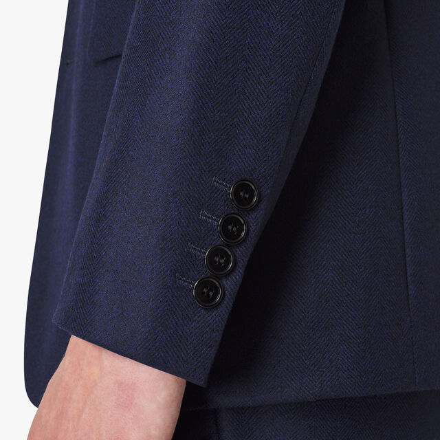 Wool & Cashmere Lined Tailoring Jacket , PLEIADES BLUE, hi-res